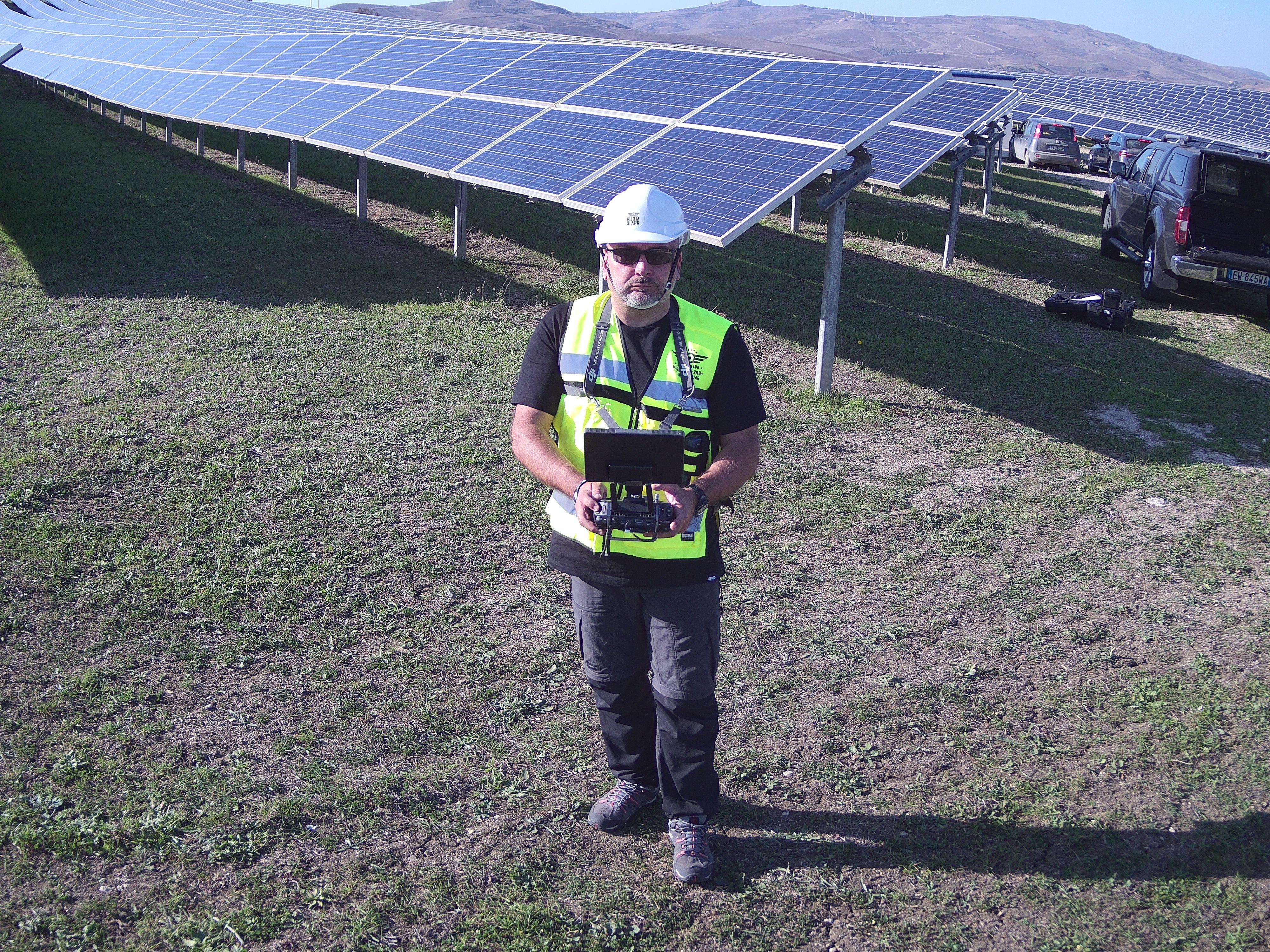 Rilievi termografici su campi fotovoltaici